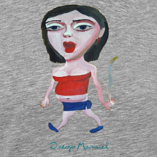 chica de paseo - Camiseta premium hombre