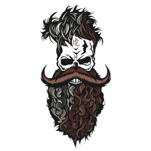 tete de mort crane hipster barbu barbe moustache m - T-shirt Premium Homme