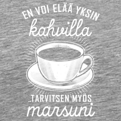 Yksin Kahvilla Marsu - Miesten premium t-paita