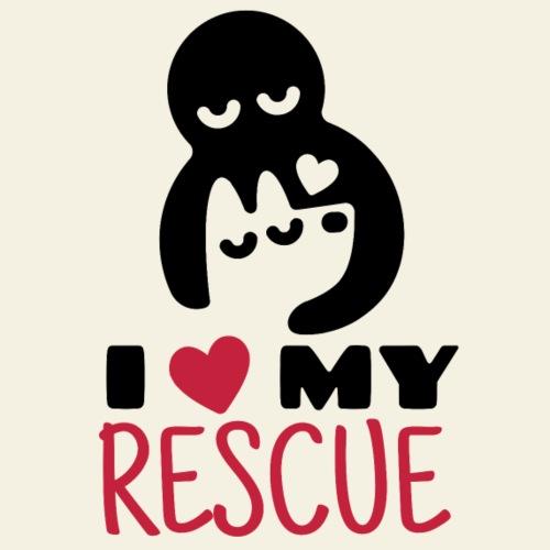 I love my rescue II - Miesten premium t-paita