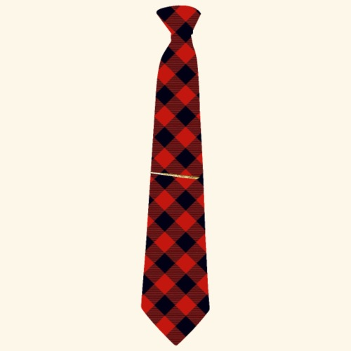 Krawatte 126 mit Goldnadel - Männer Premium T-Shirt