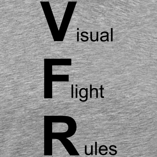 Sichtflugregeln Pilot Flugzeug lustig T-Shirt - Männer Premium T-Shirt
