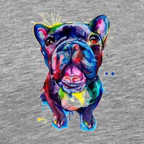 süßer bunter Hund (Bulldogge)Geschenk/Geschenkidee - Männer Premium T-Shirt
