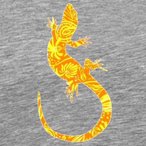 Flower Lizard VI - Miesten premium t-paita