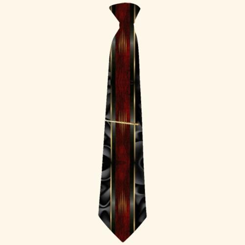 Krawatte 123 mit Goldnadel - Männer Premium T-Shirt