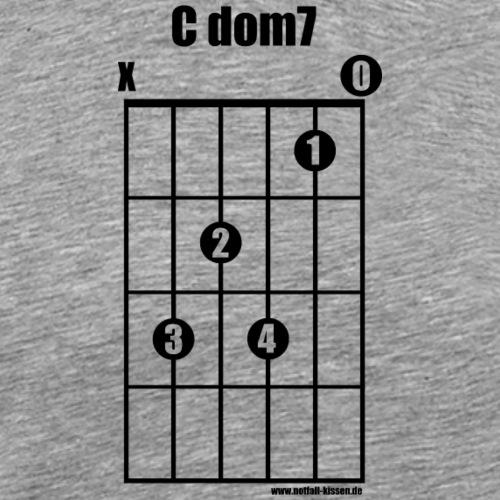 Gitarrenakkord C dom7 (black on white) - Männer Premium T-Shirt