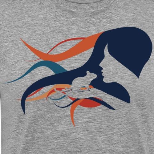 Degu Kuss | Süße Silhouette | Geschenk Degus - Männer Premium T-Shirt