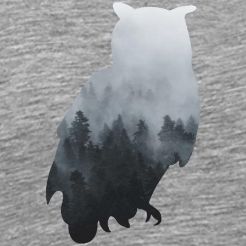 Eule Nebel - Männer Premium T-Shirt
