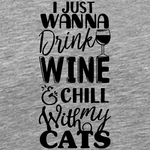 Wine Cats B - Miesten premium t-paita