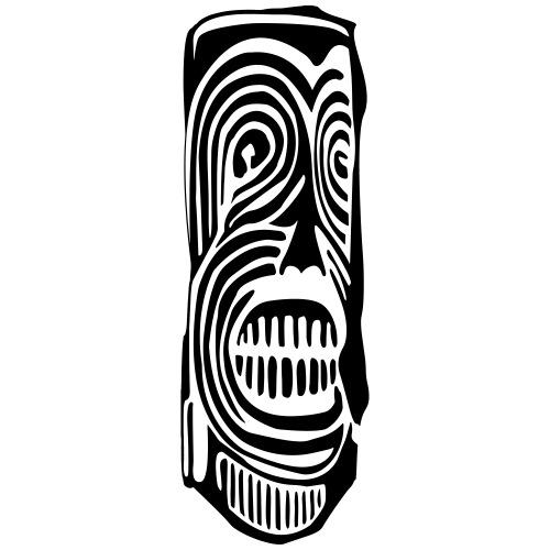 Tiki Totem Pole Face - Men's Premium T-Shirt