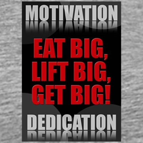 Motivation gym - Premium-T-shirt herr