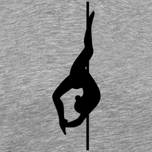 Pole Dance Silhouette 'Cocoon', schwarz - Männer Premium T-Shirt