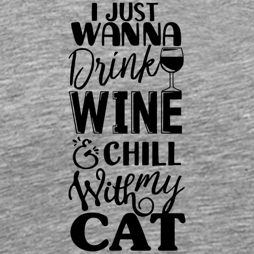 Cat Wine - Miesten premium t-paita