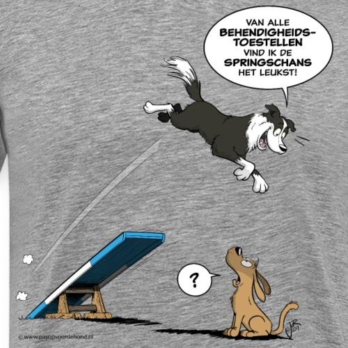 Border collie Behendigheid / veel te vlugge hond - Mannen Premium T-shirt