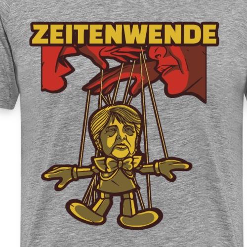 Merkel Politik Marionette Deutschland Zeitenwende - Männer Premium T-Shirt