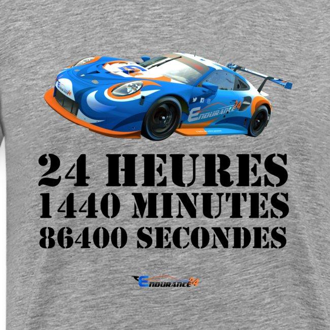 "T-Shirt Premium Hommes ""24 Heures"""