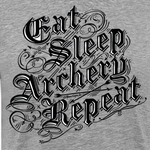 Eat Sleep Archery Repeat BLB (Archery by BOWTIQUE) - Männer Premium T-Shirt
