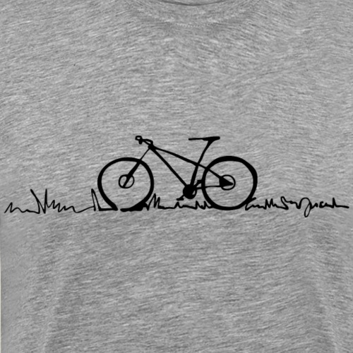 Fahrrad - Bike lined 1 - by i.r.k. - Männer Premium T-Shirt