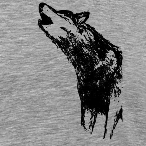 Howling Wolf - Miesten premium t-paita