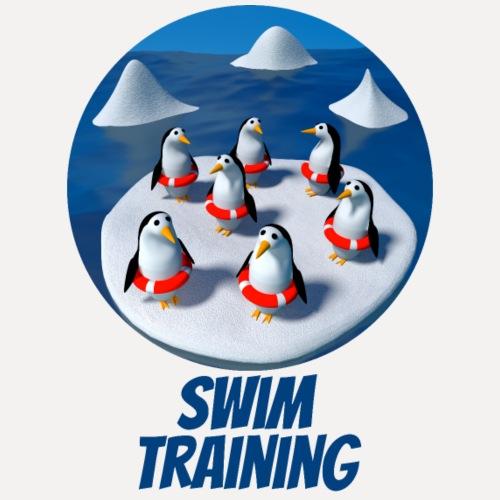 Pinguine beim Schwimmunterricht - Men's Premium T-Shirt