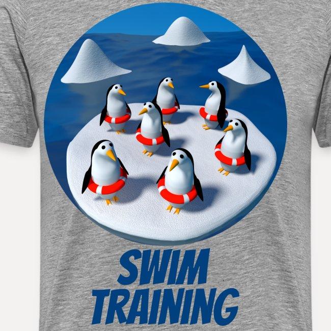 Pinguine beim Schwimmunterricht