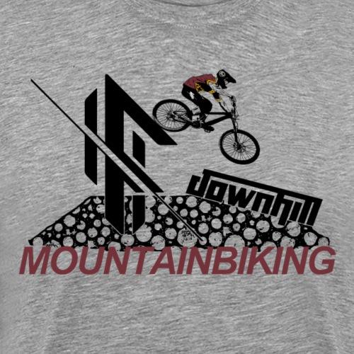 Downhill Mountainbiking drop - Männer Premium T-Shirt