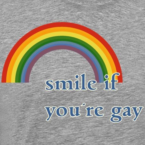 Lächle wenn du schwul bist | Vintage | LGBT |Pride - Men's Premium T-Shirt