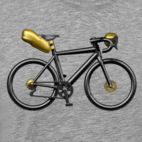Velo Gravel cintre tordu bicolore - T-shirt Premium Homme