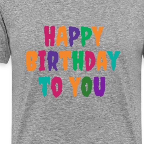 Birthday T-Shirt / T-Shirt zum Geburtstag Schrift - Männer Premium T-Shirt