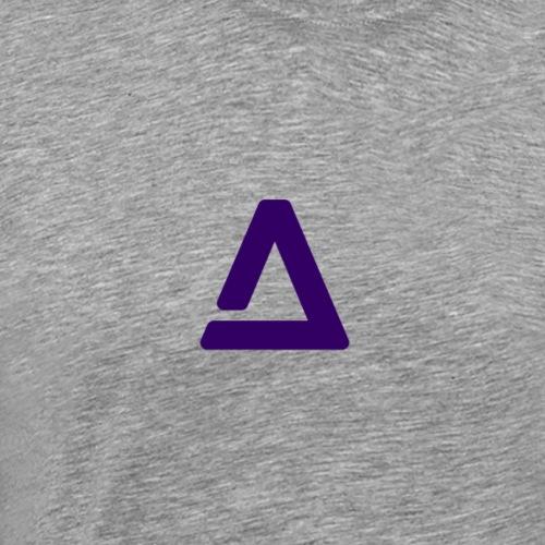 Symbol AtM Purple Transp - Herre premium T-shirt