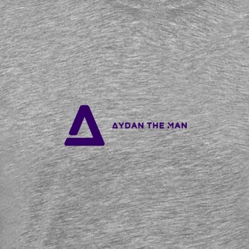 Logo AtM Purple Transp. - Herre premium T-shirt