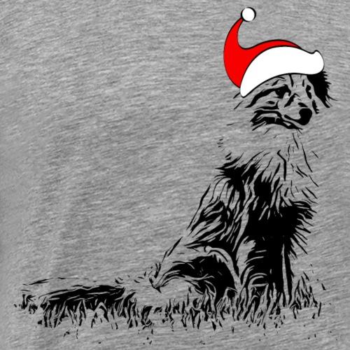 Weihnachten Sheltie Hund Shetland Sheepdog - Männer Premium T-Shirt