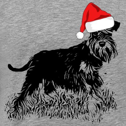 Weihnachten Zwergschnauzer Hund Schnauzer Geschenk - Männer Premium T-Shirt