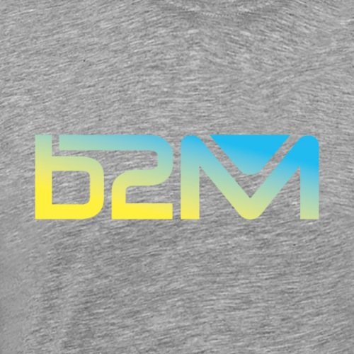 B2M degrade jaune bleu - T-shirt Premium Homme