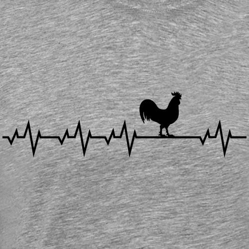 Herzschlag Hahn - Männer Premium T-Shirt