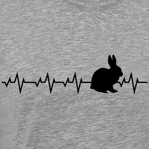Herzschlag Hase - Männer Premium T-Shirt