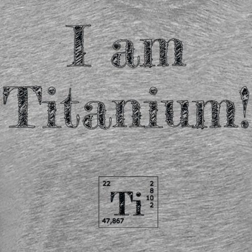 titanium - Herre premium T-shirt