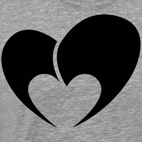 Herz aus zwei Teilen - Männer Premium T-Shirt