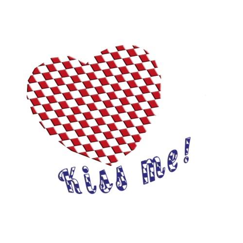 Herz Kiss me - Männer Premium T-Shirt
