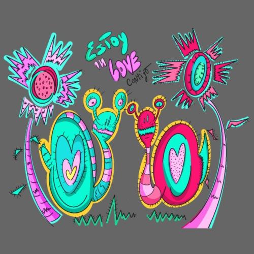 Snails with love - Camiseta premium hombre