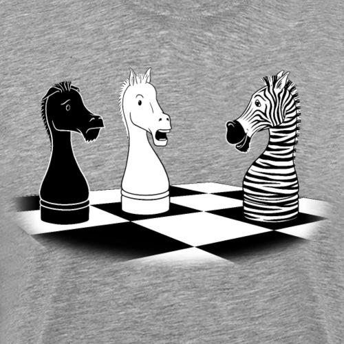Zebra Knight - Men's Premium T-Shirt