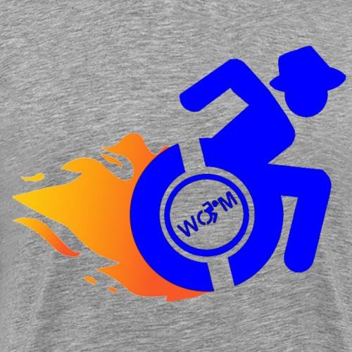 Roller met vlammen 015 - Mannen Premium T-shirt