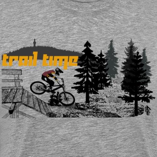 Mountainbike MTB trail time - Männer Premium T-Shirt