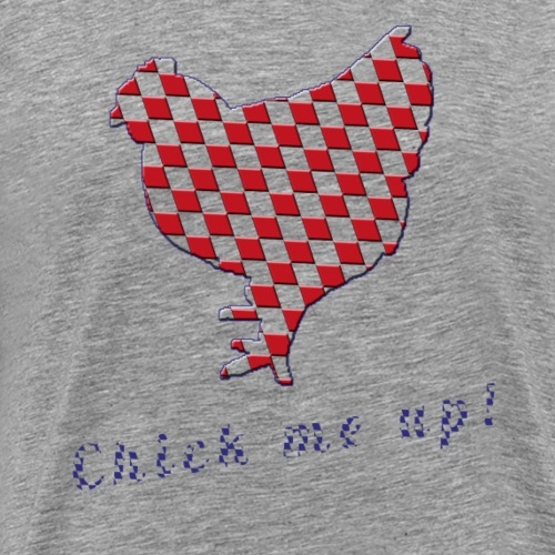 Wiesnhuhn Chick me up rot blau - Männer Premium T-Shirt
