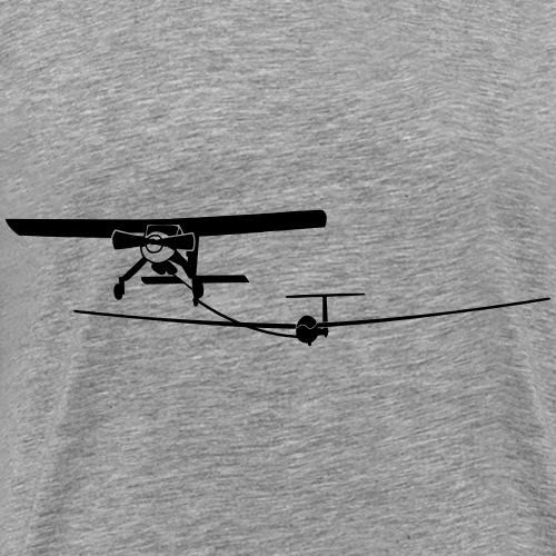 Wilga LS4 Schlepp Segelflieger Segelflugzeug - Männer Premium T-Shirt