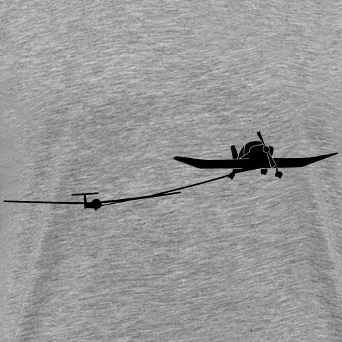 Flugzeugschlepp Segelflugzeug Segelflieger - Männer Premium T-Shirt