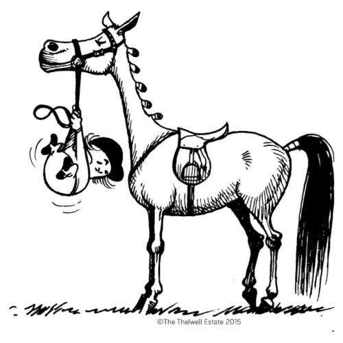 Stubborn Pony Thelwell Cartoon - Men's Premium T-Shirt