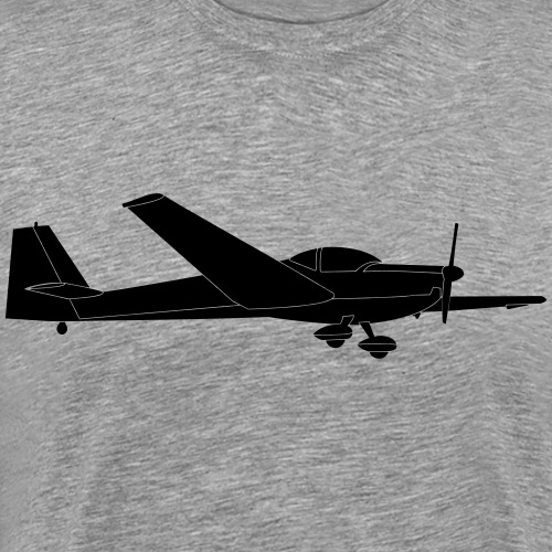 C Falke Motorsegler Segelflugzeug Segelflieger - Männer Premium T-Shirt