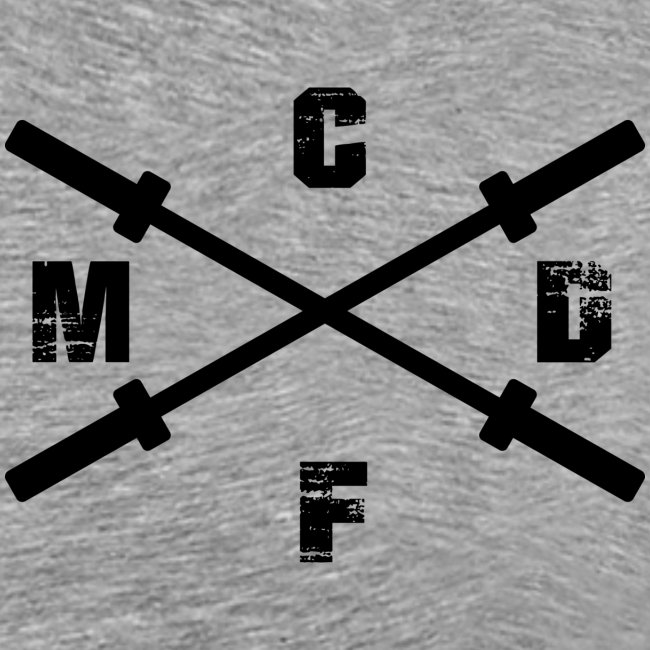 CFMD Crossed Barbells dunkel