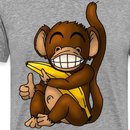 Super Fröhlicher Affe - Männer Premium T-Shirt